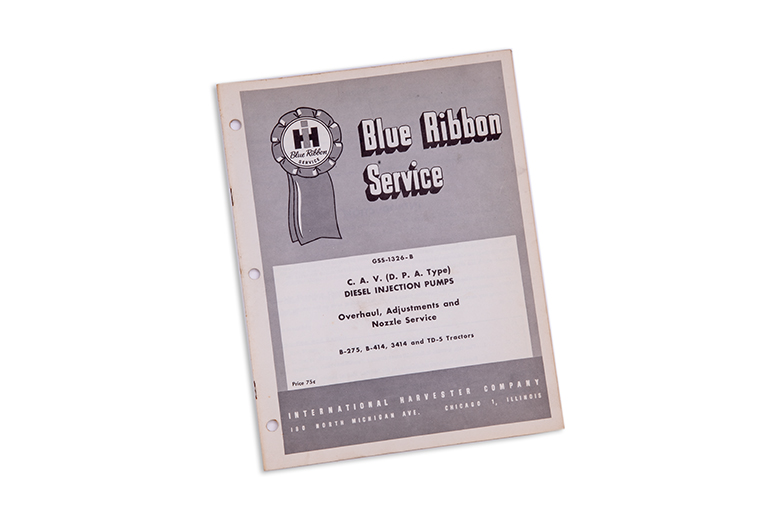 Blue Ribbon service manual C.A.V. Diesel injection Pump