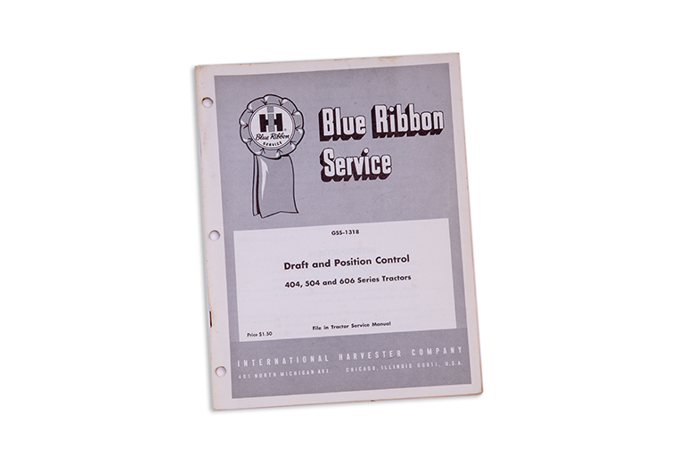 Blue Ribbon Service Manual Draft and Position Control