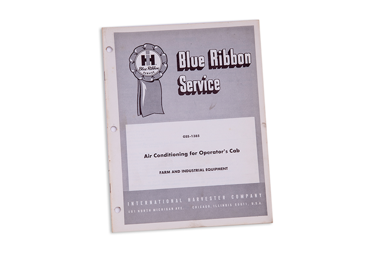 Blue Ribbon manual: Air Conditioning for Operator's Cab