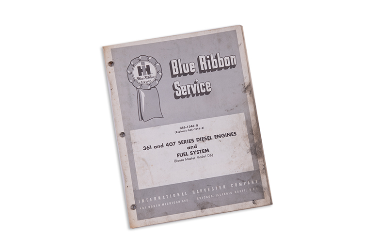 Blue Ribbon Service manual
