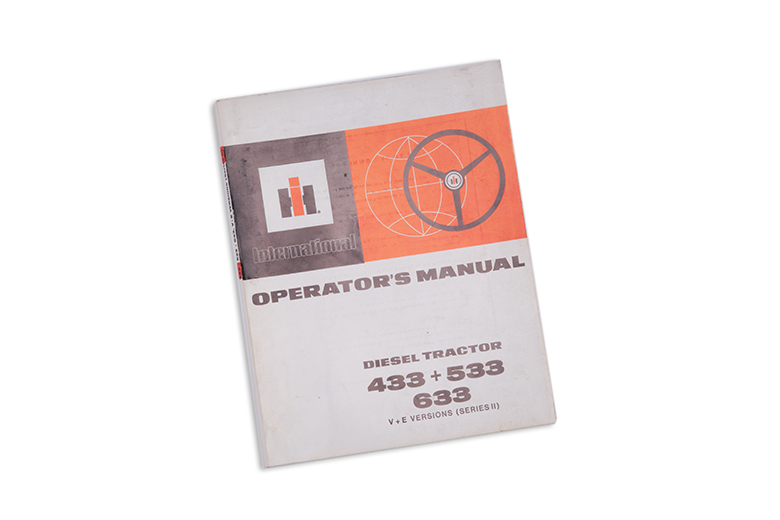International Operators Manual Diesel Tractor