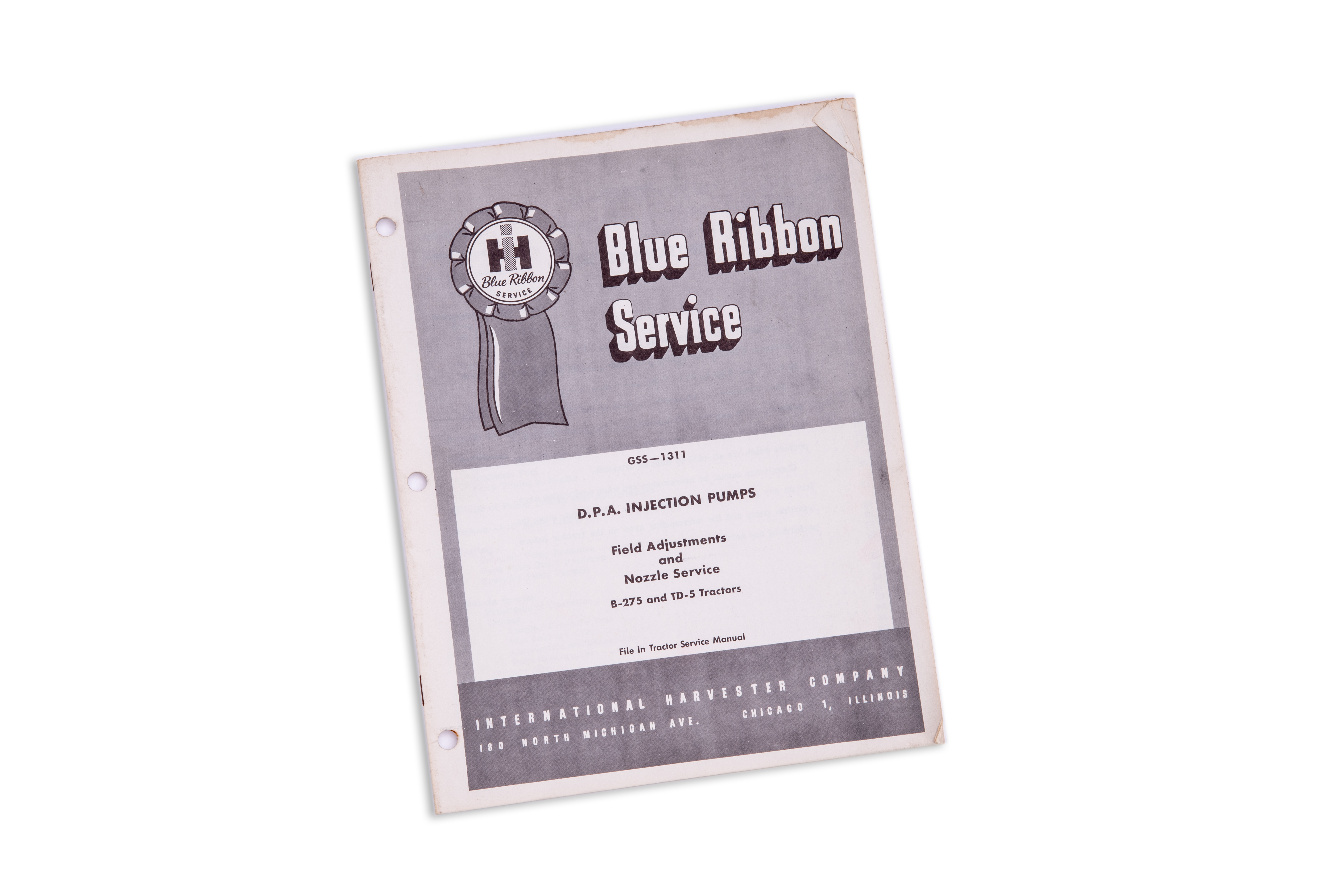 D.P. A. Injection Pumps  B-275 and TD-5 Tractor Service Manual