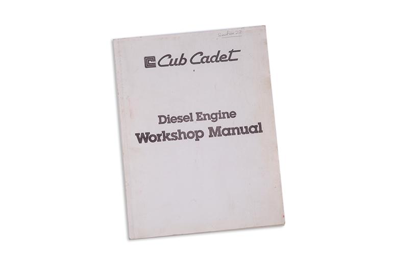 Cub Cadet Diesel Engine Workshop manual