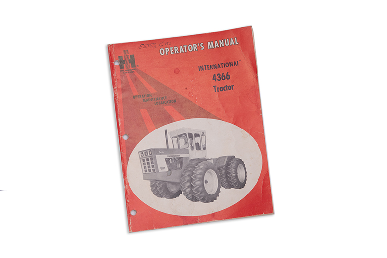 International 4366 Tractor Operator's manual