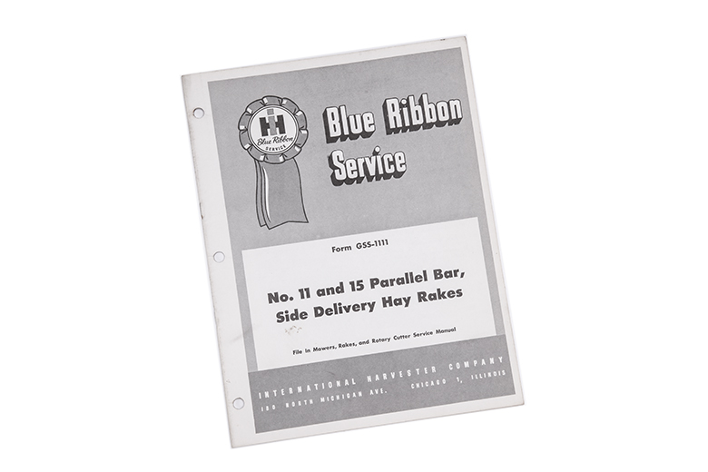 Blue Ribbon service no.11 and 15 Parallel bar, side delivery hay rides