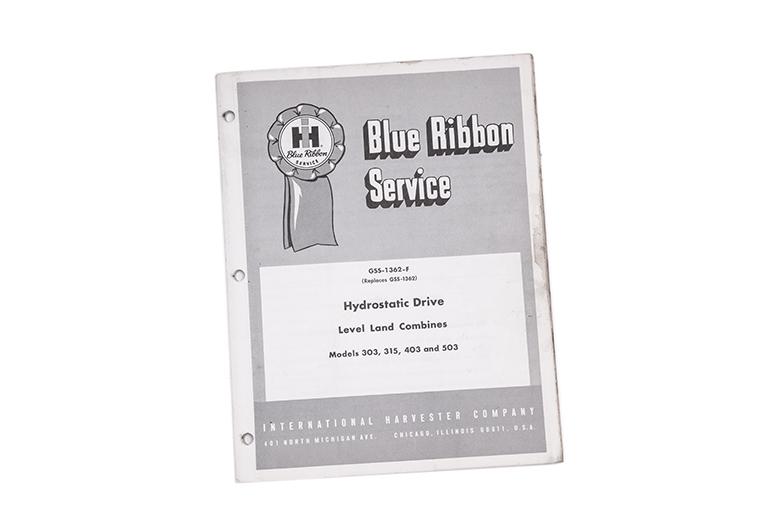 Blue Ribbon Service Hydrostatic Drive Inrternational Harvester