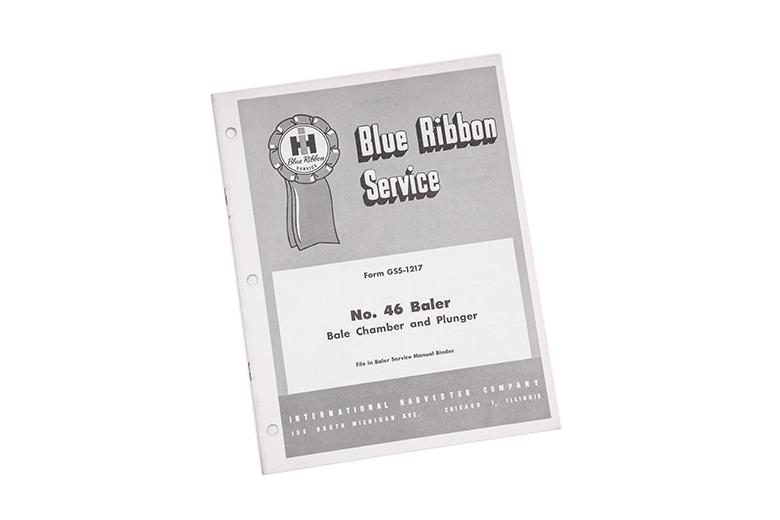 Blue Ribbon service No. 46 baler manual