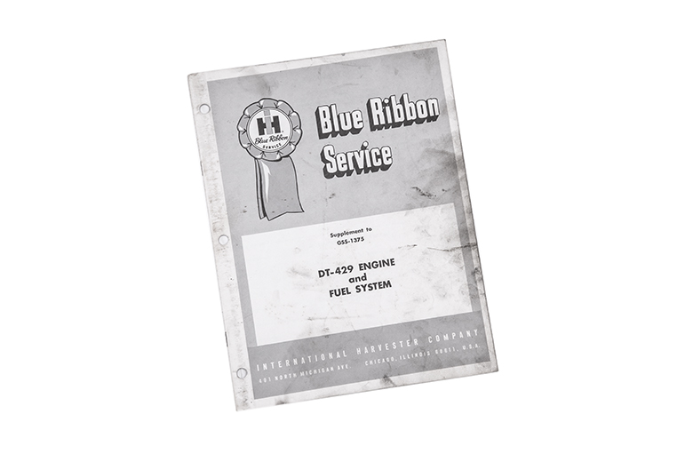 Blue Ribbon service manual for DT-429 engine and Fuel system