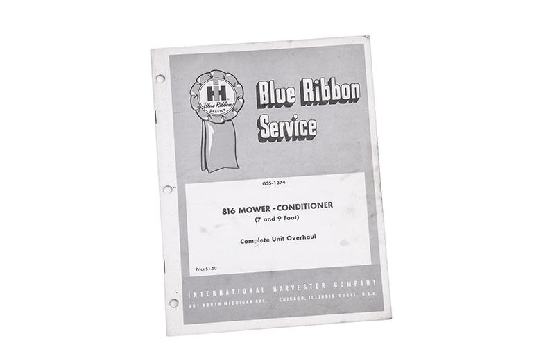 Blue Ribbon Service manual 816 Mower-Conditioner