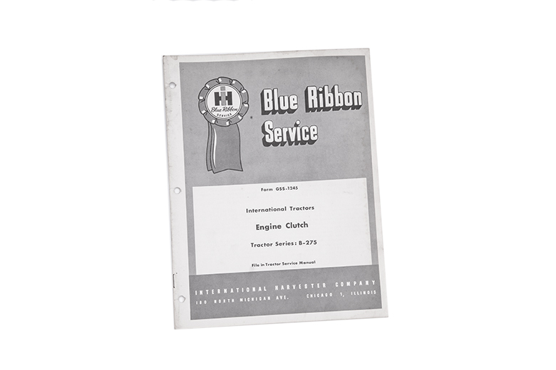 Blue Ribbon Service Internation Tractors Engine Clutch B-275