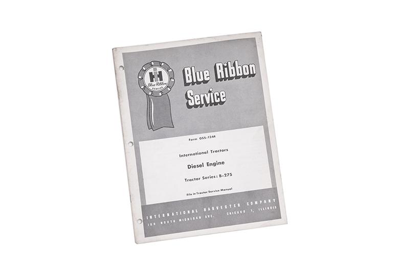 Blue Ribbon Service International Harvester Diesel engine tractor B-275