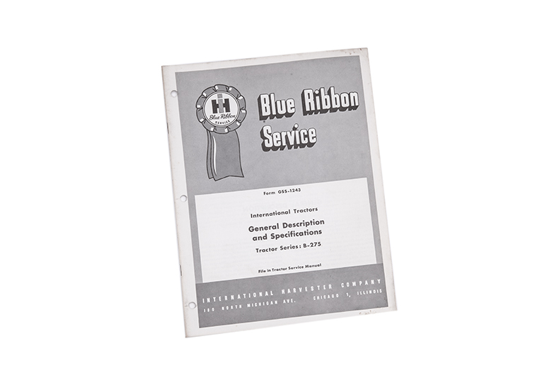 Blue Ribbon Service International tractors General Description and specifications