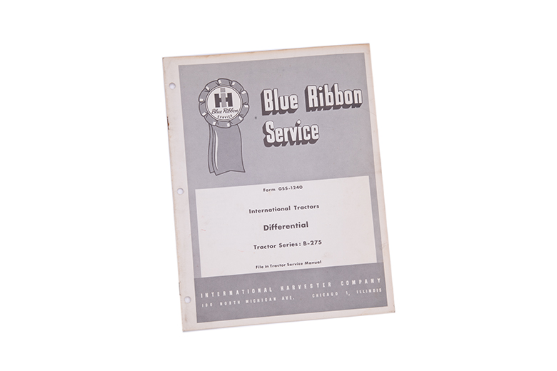 Blue service manual for International Harvester tractors Differential for B-275