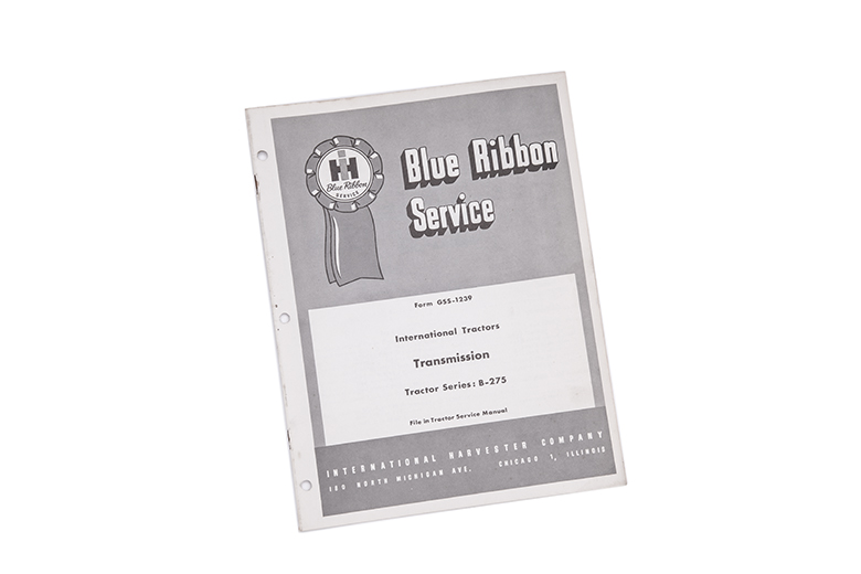 Blue Ribbon service manual International tractors Transmission