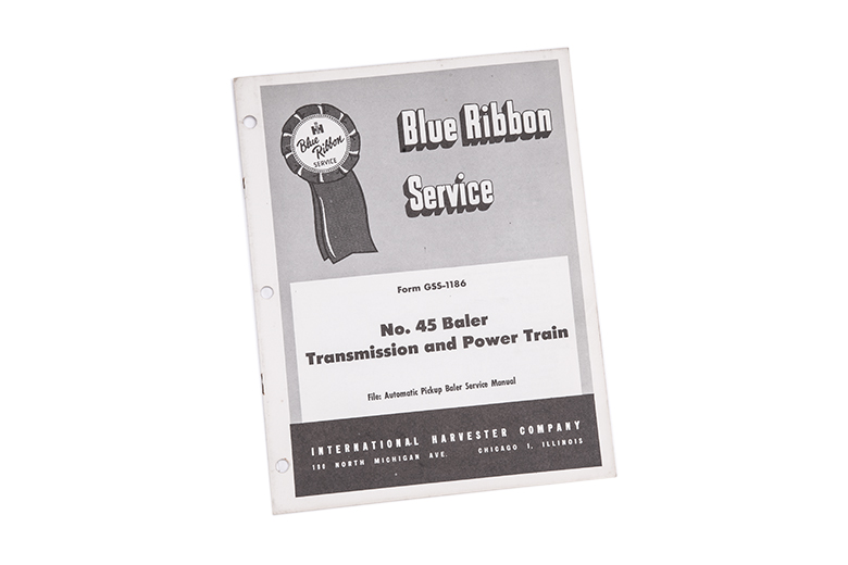 Blue Ribbon service manual No. 45 baler Transmission and Power Train