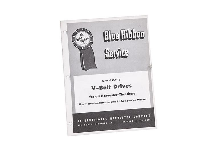 Blue Ribbon service manual international V-belt Drives