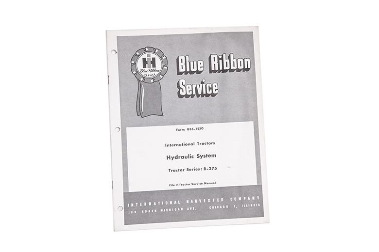 Blue Ribbon Service manual International tractor Hydraulic system