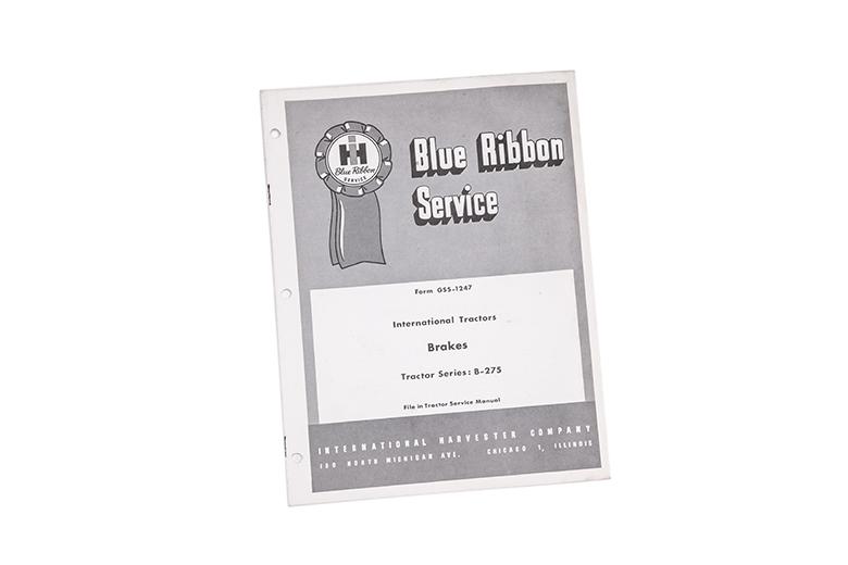Blue ribbon service manual B-275 brakes