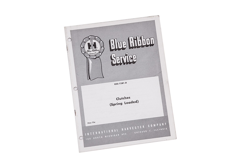 Blue Ribbon service manual Clutches (Spring Loaded)