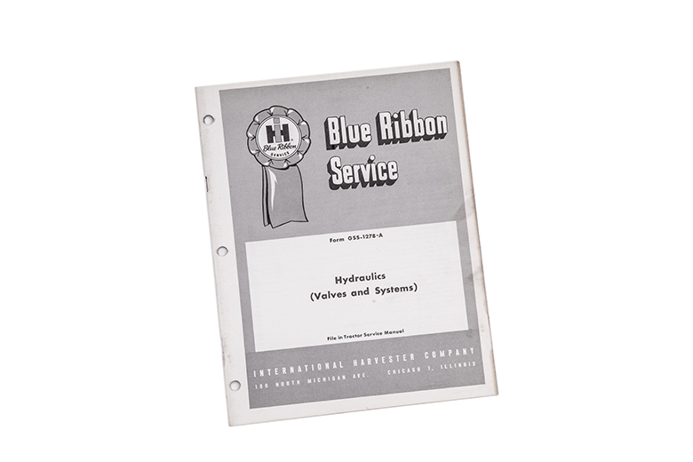 Blue Ribbon service International Harvester Hydraulics (valves and systerms)