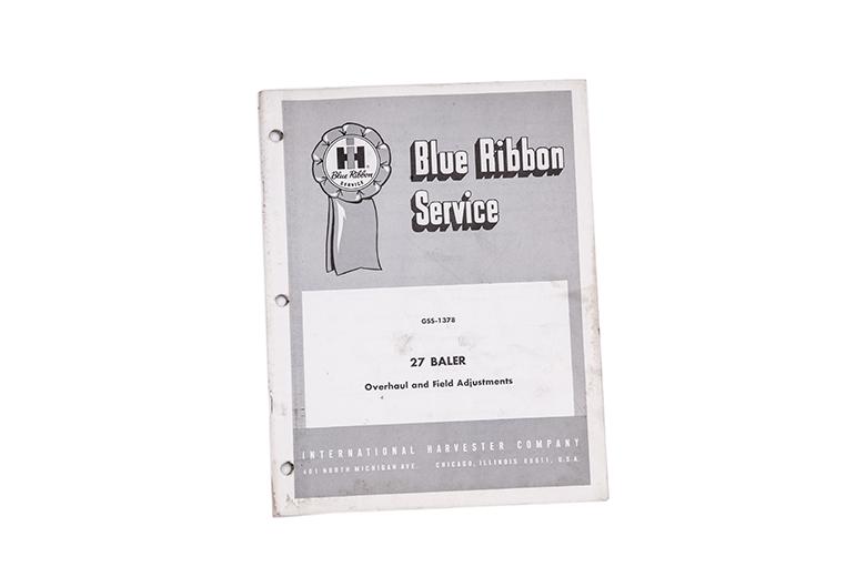 Blue Ribbon service manual for International 27 Baler