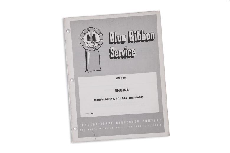 Blue Ribbon Service manual Engine