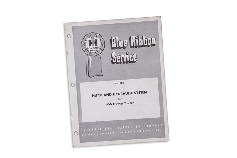 Blue Ribbon Service Hitch and Hydraulic System for 500 Crawler Tractor