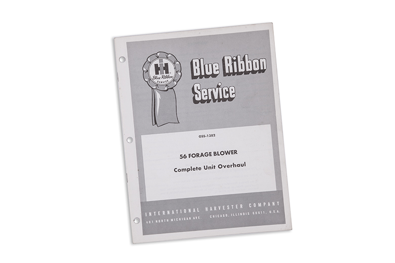 Blue Ribbon Service manual 56 Forage Blower