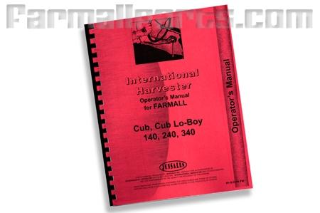 Farmall Cub, Cub lo-boy, 140, 240, 340, Preventative Maintanance
