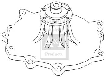Water Pump - Farmall    	1066, 1086, 1466, 1470, 1486, 1566, 1586, 4166, 4186, 5088, 5488, 6388, 766, 966, HYDRO 186