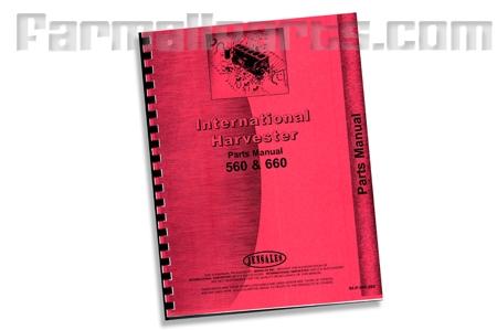 Farmall 560, 660 Parts manual