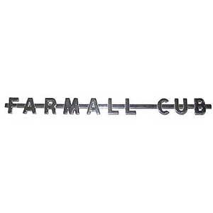 FARMALL CUB Side Emblem 362386R2