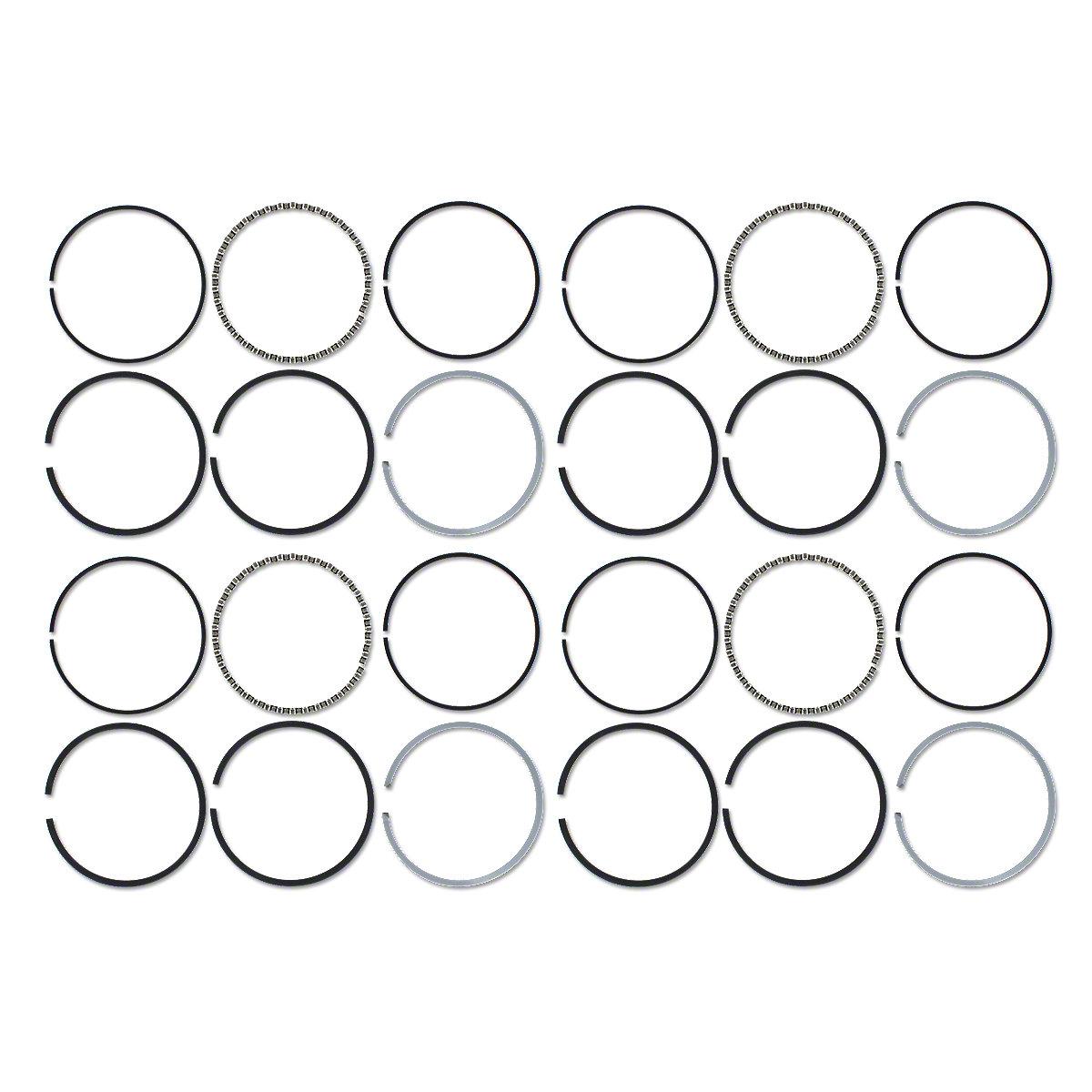 Piston Ring Set For Farmall B250, B275, B276, B414, 356, 364, 384, 424, 434, 444, 2444, 3414, 3444.