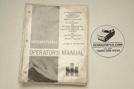 Operators Manual - Granular Chemical Herbicide And Insecticide Attachment