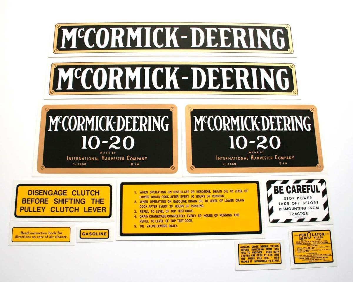 MYLAR DECAL SET - MCCORMICK-DEERING 10-20