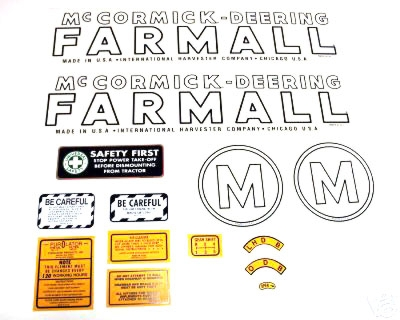MYLAR DECAL SET - Farmall M