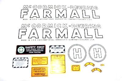 MYLAR DECAL SET - Farmall H