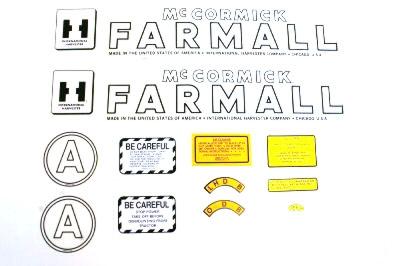 MYLAR DECAL SET - Farmall A