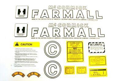 MYLAR DECAL SET - Farmall C