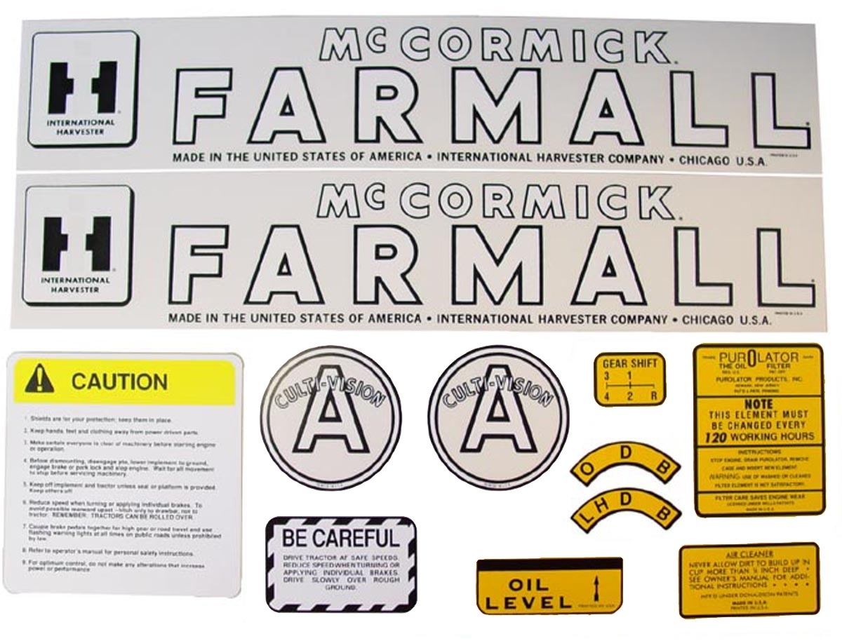 MYLAR DECAL SET - Farmall A