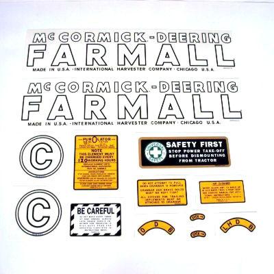 MYLAR DECAL SET- Farmall C