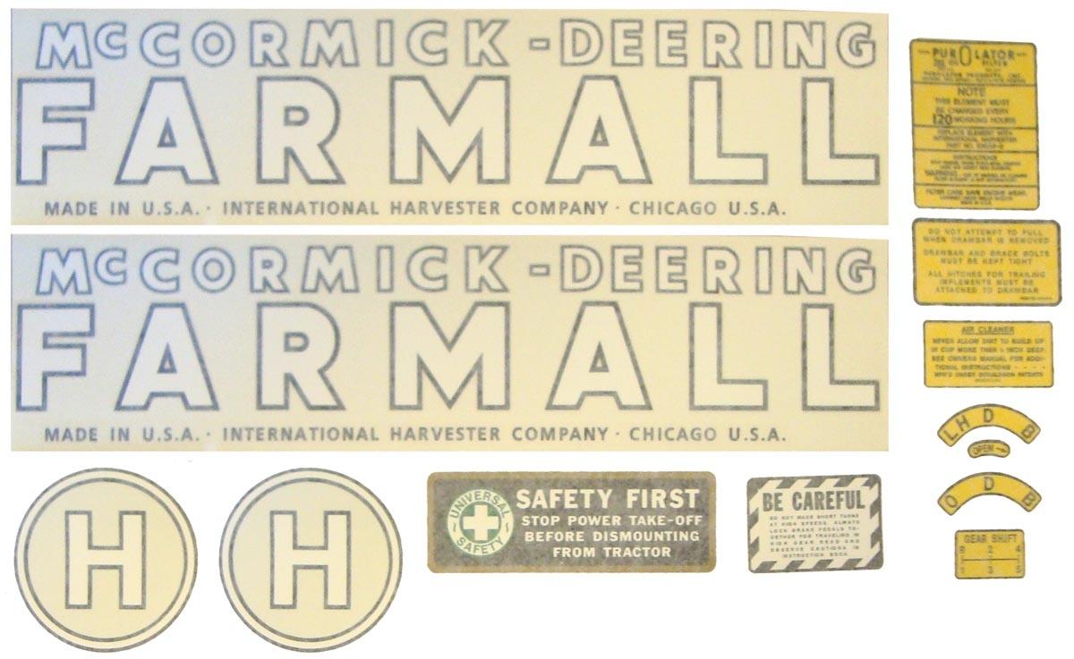 VINYL DECAL - Farmall H