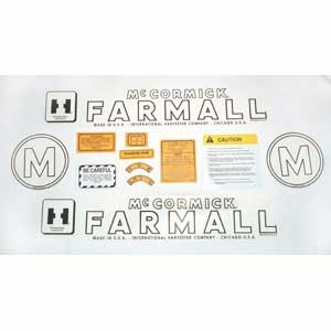 Decal Set - Farmall McCormick International M, 12 pieces
