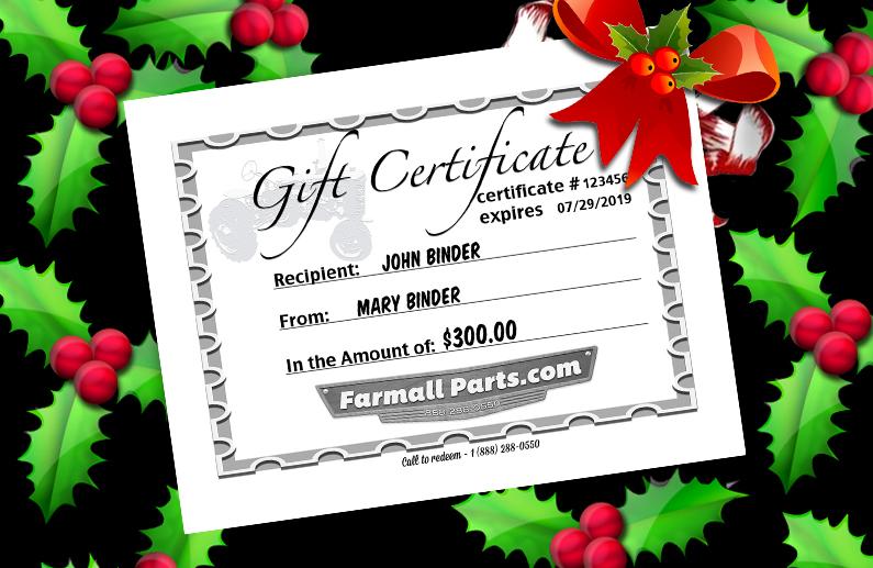 Farmallparts.com Gift Certificate
