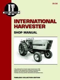 International Harvester I&T Shop Service Manual IH-54