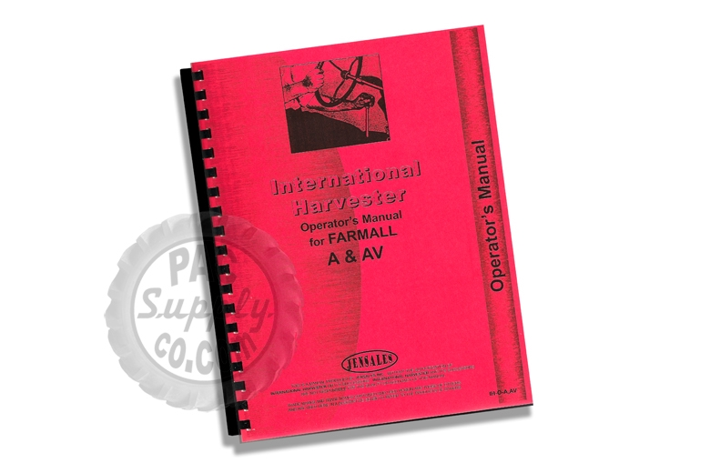 Operators Manual - IH Farmall A & AV