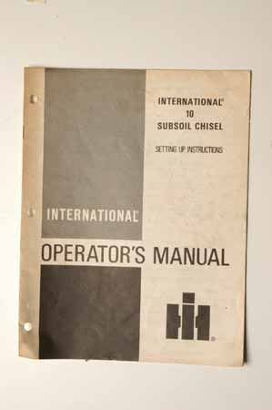 IHMANUAL 10 Subsoil Chisel Setting Up instructions