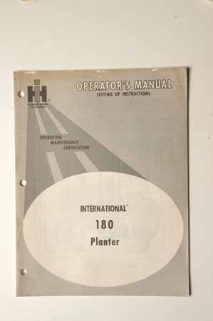 IHMANUAL   180 Planter  Setting Up Instructions