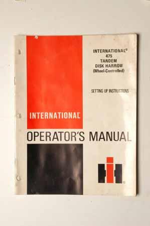 IHMANUAL-Set up instructions-international 475 tandem disk harrow