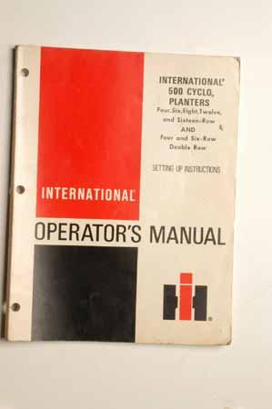 IH Operator's MANUAL International 500 Cyclo Planters